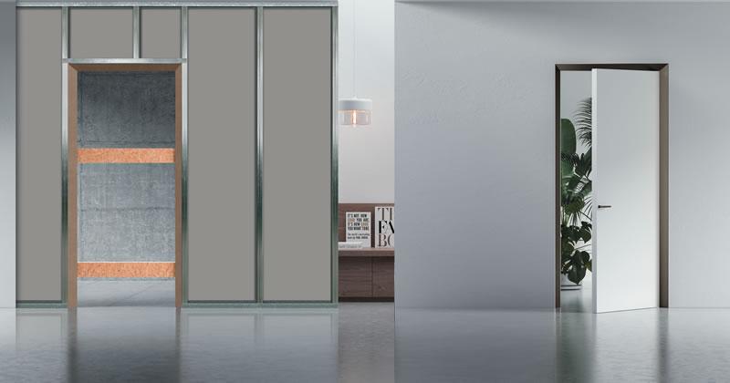 Eclisse 40 Collection: il nuovo telaio strombato per porte filo muro