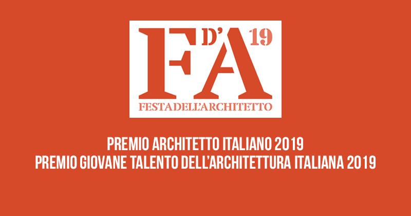 Premi Architetto italiano e Giovane Talento dell'Architettura Italiana: candidature fino al 30 settembre 2019